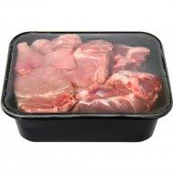 Полуфабрикат мясной «Рагу Ассорти эконом» из свинины, 1 кг, фасовка 0.75-1.05 кг