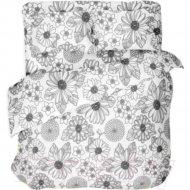 Комплект постельного белья «Samsara» White flowers, Евро, 220-3