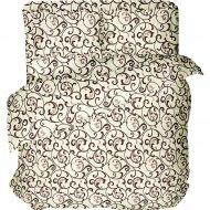 Комплект постельного белья «Samsara» Завитки пломбир, Евро, 220-5