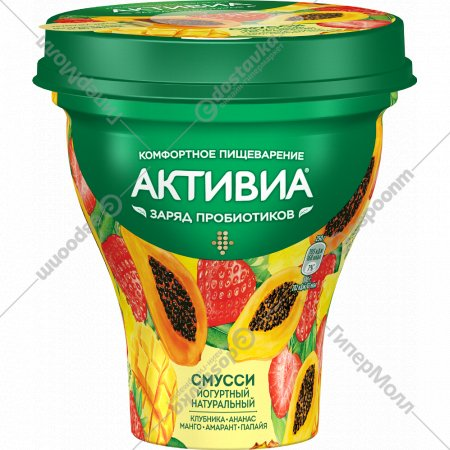 Биойогурт «Активиа» смусси, 1%, 250 г.