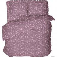 Комплект постельного белья «Samsara» Завитки Blueberry, Евро, 220-9