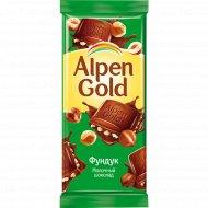 Шоколад «Alpen Gold» молочный с фундуком, 90 г.