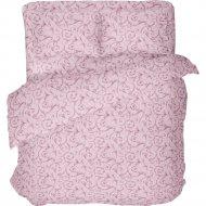 Комплект постельного белья «Samsara» Завитки Pink, Евро, 220-10