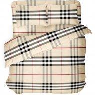 Комплект постельного белья «Samsara» Клетка Burberry, Евро, 220-12