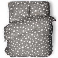 Комплект постельного белья «Samsara» Grey Stars, Евро, 220-15