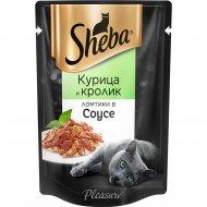 Корм для кошек «Sheba Pleasure» курица и кролик в соусе, 85 г.
