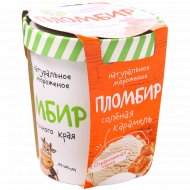 Мороженое «Из молочного края» пломбир с соленой карамелью, 270 г.