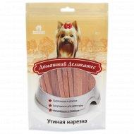 Лакомство для собак «Домашний деликатес» утиная нарезка, 85 г.