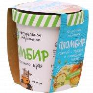 Мороженое «Из молочного края» вкус сыра и с ядрами тыквы, 270 г.