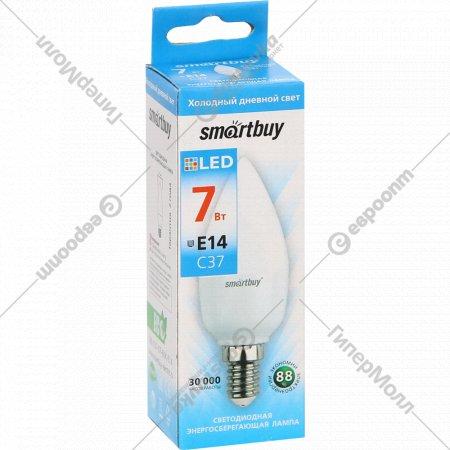 Лампа светодиодная LED «Smartbuy» C37 07W/6000.