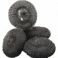 Металлическая мочалка-губка «Paclan» большая, 5 шт.