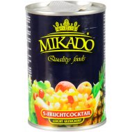Фруктовый коктейль «Mikado» в сиропе, 425 мл.