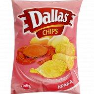 Чипсы картофельные «Dallas» со вкусом краба 140 г.