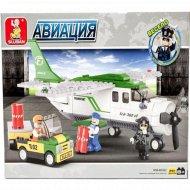 Конструктор детский «Sluban» грузовой самолет, M38-B0362.