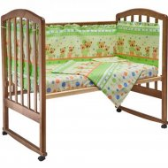 Комплект постельного белья «Fun Ecotex» Мишутка и зайка, 10057, зеленый