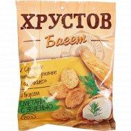 Сухарики «Хрустов Багет» со вкусом сметаны с зеленью 70 г.
