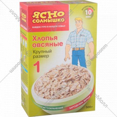 Хлопья овсяные «Ясно солнышко» №1, 500 г.