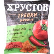 Гренки ржаные «Хрустов» со вкусом томата 80 гр.