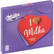 Конфеты шоколадные «Milka» с ореховой начинкой, 110 г.