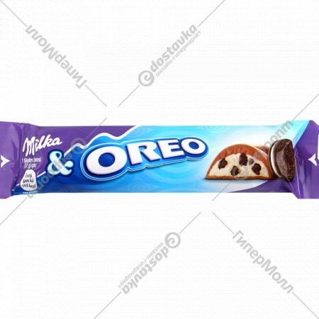 Шоколад молочный «Milka» с кусочками печенья орео, 37 г.