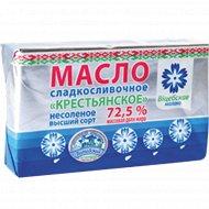 Масло сладкосливочное «Крестьянское» несоленое 72.5%, 180 г.