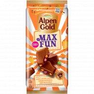 Шоколад «Alpen Gold» МаксФан с фруктами и рисовыми шариками, 150 г
