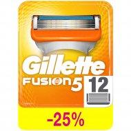 Сменные кассеты для бритья «Gillette» Fusion, 12 шт