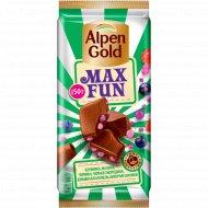 Шоколад «Alpen Gold» МаксФан с ягодами и карамелью, 150 г