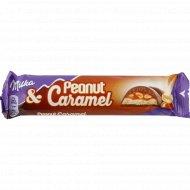 Шоколад молочный «Milka» арахис-карамель-воздушный рис, 37 г.