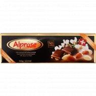 Шоколад горький «Chocolat Alprose» с цельным миндалем 74%, 300 г.
