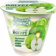 Йогурт двухслойный «Бабушкина крынка» киви и зеленое яблоко, 2%, 150 г