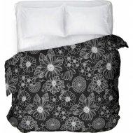 Пододеяльник «Samsara» Black flowers, двуспальный, Евро, 220По-4
