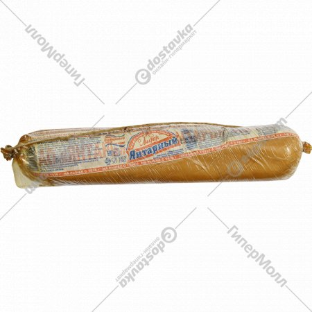 Колбасный сыр «Янтарный лидер» копчёный, 45%, 1 кг., фасовка 1-1.3 кг