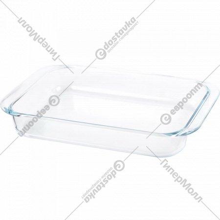 Блюдо «Home Line» стеклянное прямоугольное 8078-2 38.6х24х6см 3.5л.