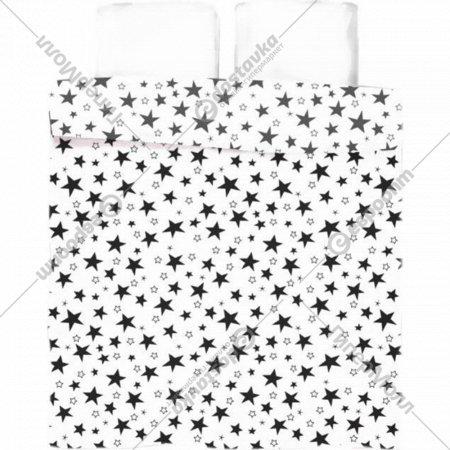 Пододеяльник «Samsara» White Stars, двуспальный, Евро, 220По-14