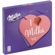 Конфеты шоколадные «Milka» с клубничной начинкой, 110 г.
