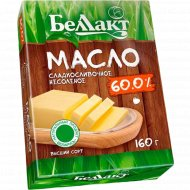 Масло сладкосливочное «Беллакт» несоленое 60% высший сорт 160 г.