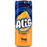 Напиток сокосодержащий «Alis» апельсиновый, с мякотью, 240 мл