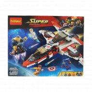 Конструктор детский «Decool» реактивный самолет Мстителей, 7120.