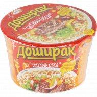 Лапша «Доширак» стыный обед, говядина, мясной соус, 110 г.