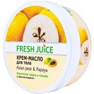 Крем-масло для тела «Fresh Juice» Asian Pear & Papaya, 225 мл.
