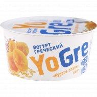 Йогурт греческий «YoGre» курага-злаки-лён, 1.7%, 140 г