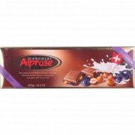 Шоколад молочный «Chocolat Alprose» с изюмом и лесным орехом 300 г.