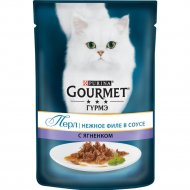 Корм для кошек «Gourmet» нежное филе в соусе с ягнёнком, 85 г