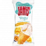 Мороженое «Jattis» манго-маракуйя в сахарном рожке, 80 г.