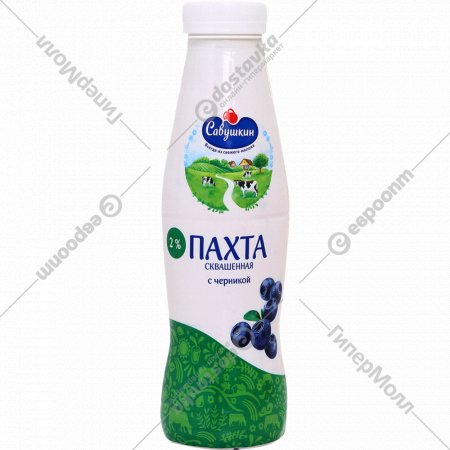 Напиток кисломолочный «Пахта» сквашенная с черникой, 2%, 415 г.