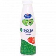Напиток кисломолочный «Пахта» сквашенная с клубникой, 2%, 415 г.