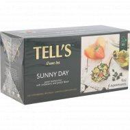 Чай зеленый «Tell's» со вкусом клубники и персика, 25х1.5 г.