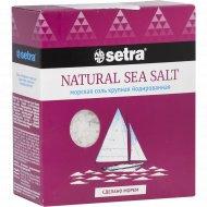 Соль морская «Setra» крупная, йодированная, 500 г.