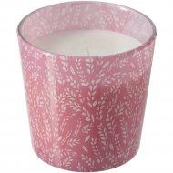 Ароматическая свеча в стакане «Медкэмпэ» розовая, 7,5 см.